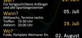 Termine der Skatenight Fulda, Saison 2017 Abfahrt 20:00 Uhr